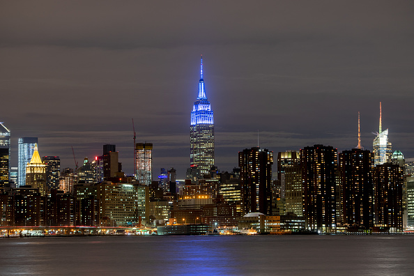 Empire State Building「Landmarks Join Autism Speaks Light It Up Blue Campaign On World Autism Awareness Day 2019」:写真・画像(6)[壁紙.com]