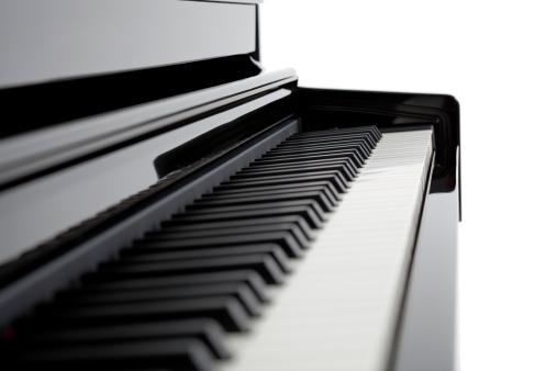 黒「ピアノコピースペースの細部、黒」:スマホ壁紙(14)