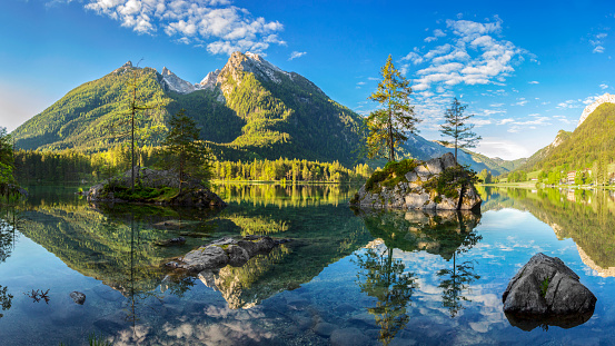 European Alps「Hintersee - Bavarian lake in Berchtesgaden National Park」:スマホ壁紙(5)