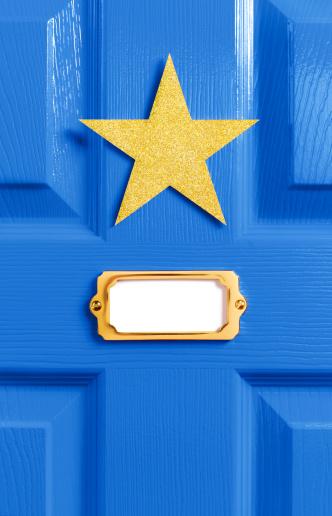 Celebrities「Stars blue dressing room door」:スマホ壁紙(4)