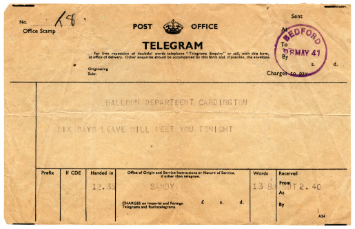 World War II「Good news telegram to Cardington, 1941」:スマホ壁紙(9)