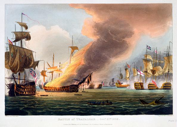 Passenger Craft「The Battle Of Trafalgar 21st October 1805 (1816)」:写真・画像(1)[壁紙.com]