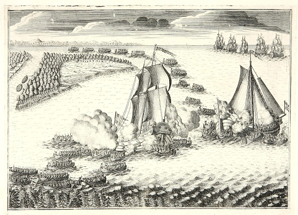 Russian Military「The battle at the mouth of the Neva on May 18, 1703, 1720s」:写真・画像(1)[壁紙.com]