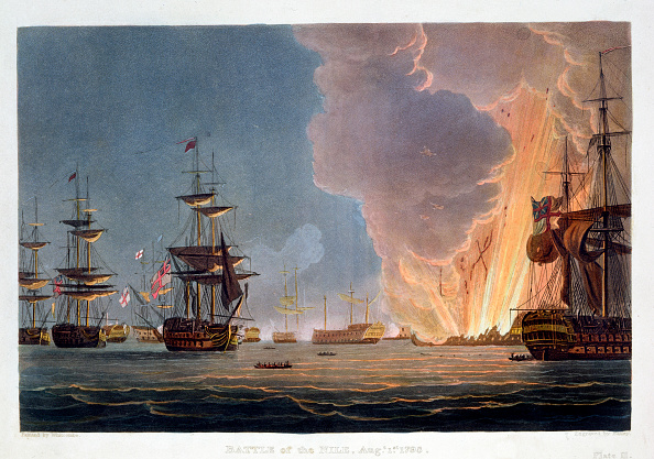 Battle「The Battle Of The Nile 1st August 1798 (1816)」:写真・画像(6)[壁紙.com]