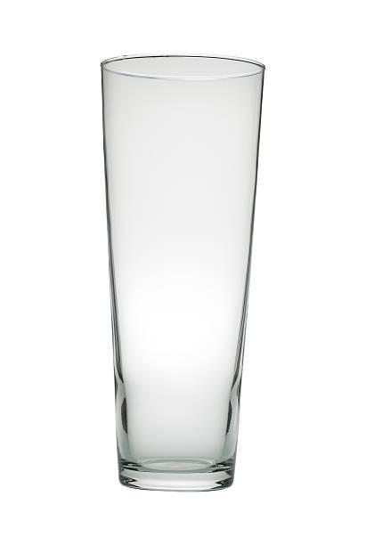 Tall glass vase isolated on white _ vertical:スマホ壁紙(壁紙.com)