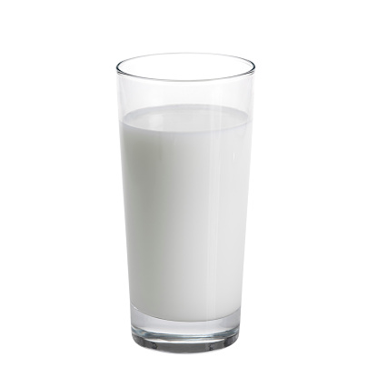 Drinking Glass「Tall glass of milk against a white background」:スマホ壁紙(9)