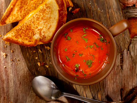Toasted Food「Tomato Soup with Grilled Cheese Sandwich」:スマホ壁紙(12)