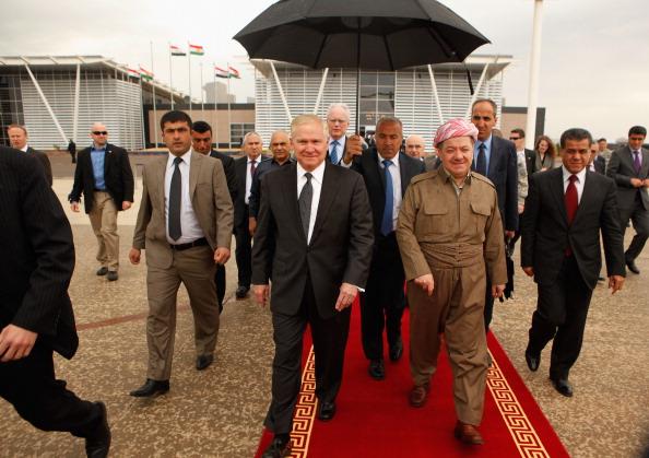 Massoud Barzani「Defense Secretary Robert Gates Travels To Iraq」:写真・画像(2)[壁紙.com]