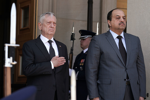 Roped Off「Defense Secretary James Mattis Hosts Honor Cordon For Qatari Minister Of Defense Khalid Bin Mohammed Al-Attiyah」:写真・画像(16)[壁紙.com]