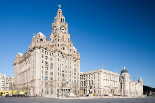 UNESCO「Port of Liverpool, Cunard Building and Liver Building Make Up 'The Three Graces', Merseyside, UK」:スマホ壁紙(5)