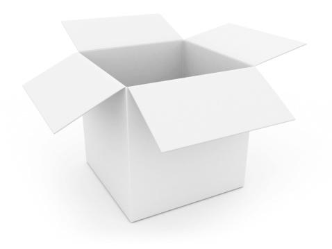 Empty Box「open white box」:スマホ壁紙(7)