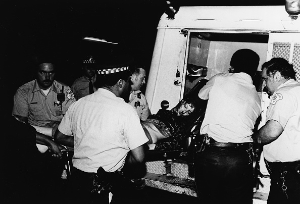 Democratic National Convention「Protestor Taken Away In Ambulance At 1968 Chicago Riots」:写真・画像(13)[壁紙.com]