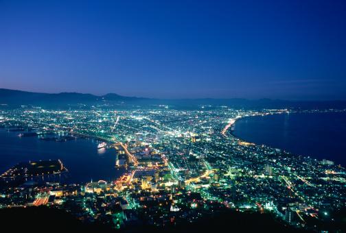 Hokkaido「Illuminated City view, Hakodate, Hokkaido, Japan」:スマホ壁紙(15)