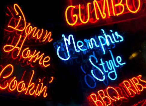 Blues Music「Illuminated signs on Beale Street in Memphis」:スマホ壁紙(15)