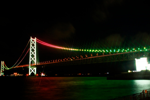 2000-2009「Illuminated Akashi-Kaikyo Bridge」:スマホ壁紙(12)