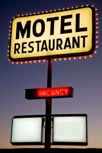 Motel「Illuminated Motel Neon Advertising Sign」:スマホ壁紙(6)