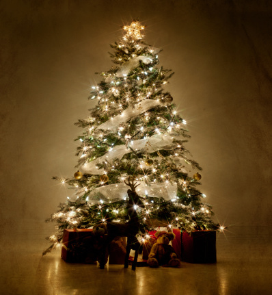 Christmas Tree「Illuminated Christmas tree at night」:スマホ壁紙(7)