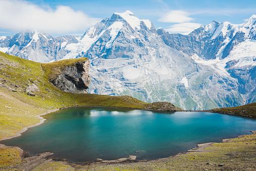 Switzerland「Alpine lake and mountains, Schilthorn, Bern, Switzerland」:スマホ壁紙(4)