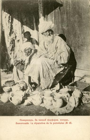 Uzbekistan「Pottery repair stall  in Samarkand, c. 1900」:写真・画像(3)[壁紙.com]