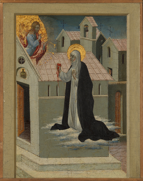 Siena - Italy「Saint Catherine Of Siena Exchanging Her Heart With Christ. Creator: Giovanni Di Paolo.」:写真・画像(1)[壁紙.com]