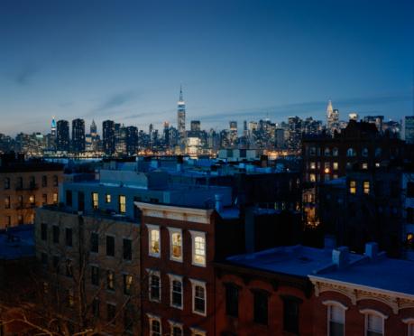 Urban Skyline「USA, New York, New York City, Brooklyn, Brownstone buildings」:スマホ壁紙(6)