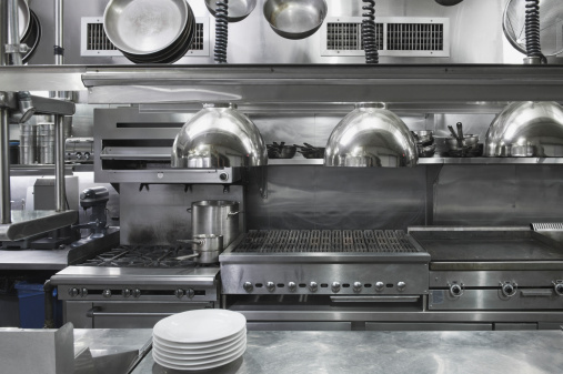 Gear「USA, New York, New York City, interior of commercial kitchen」:スマホ壁紙(6)