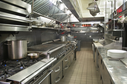 Flame「USA, New York, New York City, interior of commercial kitchen」:スマホ壁紙(16)