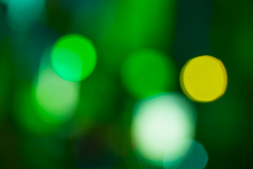 Abstract Backgrounds「USA, New York, New York City, Green defocused lights」:スマホ壁紙(0)