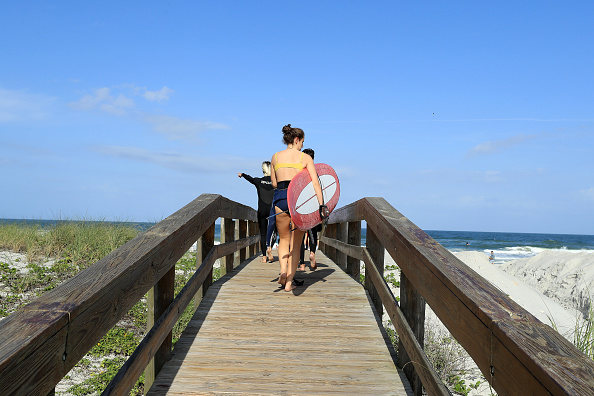 Jacksonville Beach「Jacksonville, Florida Re-Opens Beaches After Decrease In COVID-19 Cases」:写真・画像(17)[壁紙.com]