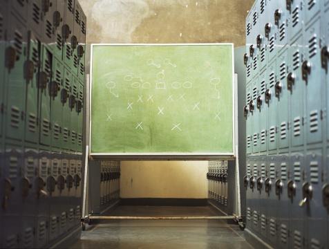 Strategy「Football play written on chalkboard in locker room」:スマホ壁紙(14)