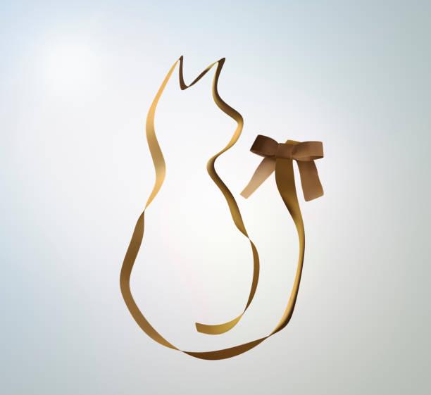 Ribbon that shaped cat:スマホ壁紙(壁紙.com)