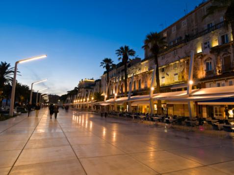Pedestrian Zone「Main Boulevard, Split, Croatia」:スマホ壁紙(16)