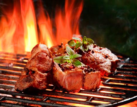 Mint Leaf - Culinary「Beef steaks in the flames」:スマホ壁紙(11)