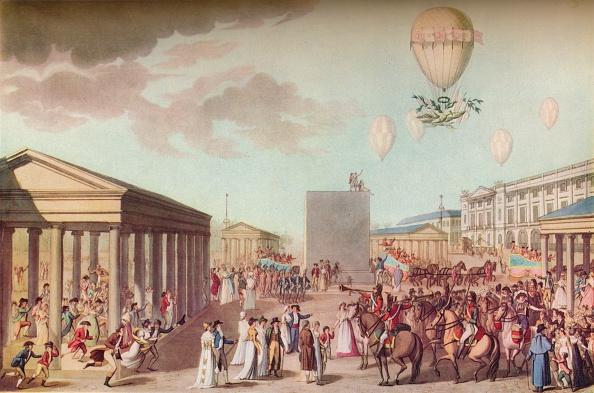 気球「Fete Du Sacre Et Couronnement De Leurs Majestes Imperiales c 1804」:写真・画像(6)[壁紙.com]