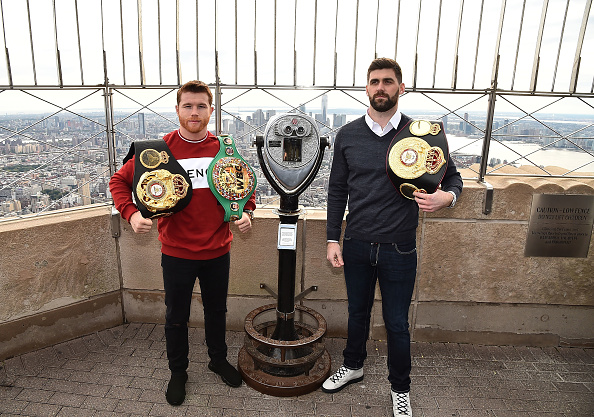 Saul Alvarez「Empire State Building Hosts Boxing Champs Canelo Alvarez And Rocky Fielding」:写真・画像(13)[壁紙.com]