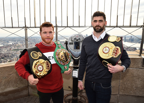 Saul Alvarez「Empire State Building Hosts Boxing Champs Canelo Alvarez And Rocky Fielding」:写真・画像(18)[壁紙.com]