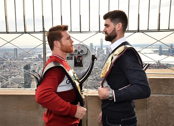 Saul Alvarez「Empire State Building Hosts Boxing Champs Canelo Alvarez And Rocky Fielding」:写真・画像(5)[壁紙.com]