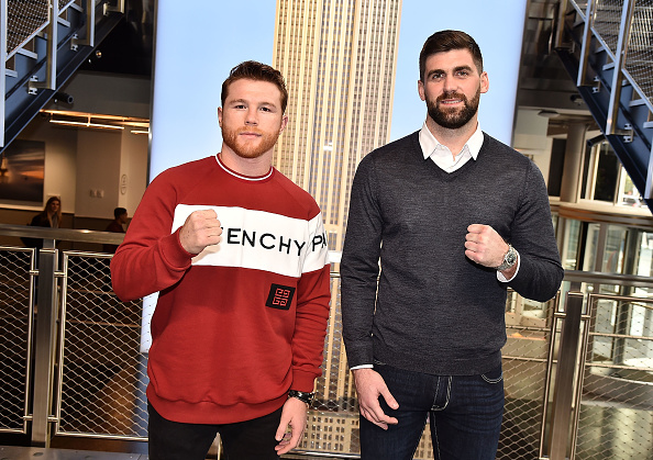 Saul Alvarez「Empire State Building Hosts Boxing Champs Canelo Alvarez And Rocky Fielding」:写真・画像(17)[壁紙.com]