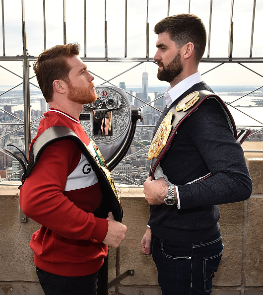 Empire State Building「Empire State Building Hosts Boxing Champs Canelo Alvarez And Rocky Fielding」:写真・画像(17)[壁紙.com]