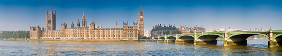 19th Century「Bridge Across River Thames and Palace of Westminster」:スマホ壁紙(6)