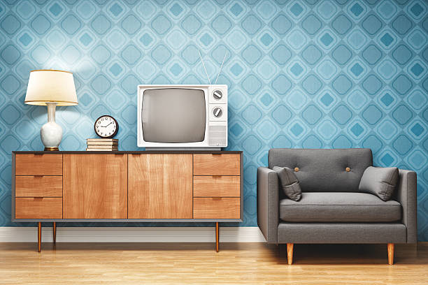 Retro Style Living Room Interior Design:スマホ壁紙(壁紙.com)