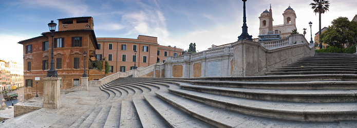 Town Square「Spanish Steps in Rome at Sunrise」:スマホ壁紙(8)