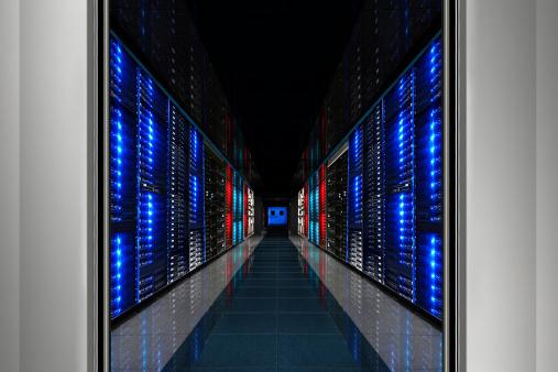Supercomputer「Hi-Tech Data Center Server Room」:スマホ壁紙(4)