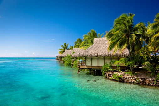 French Overseas Territory「Hotel Resort in Paradise Lagoon」:スマホ壁紙(3)