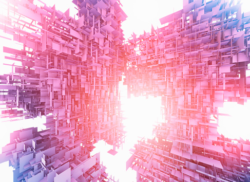 Virtual Reality「Complex abstract structure」:スマホ壁紙(18)