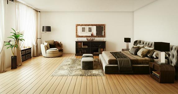 Desk Lamp「Stylish Master Bedroom Interior」:スマホ壁紙(2)