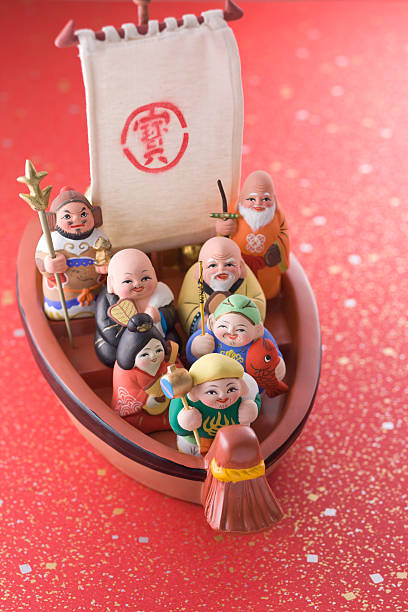 Japanese seven deities of luck:スマホ壁紙(壁紙.com)