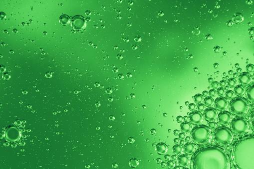 Green Background「Green Bubbles」:スマホ壁紙(19)