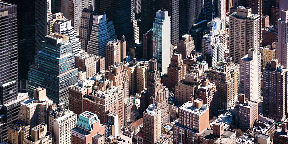 Wide Screen「Towers of Manhattan - isometric high angle view」:スマホ壁紙(18)
