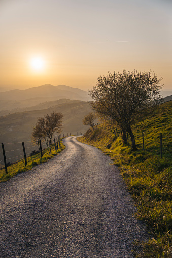 Long「Countryside road at sunset」:スマホ壁紙(18)